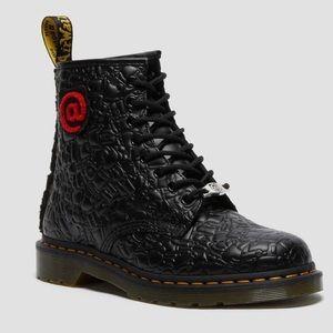 Dr MARTENS 1460 BBRICK Leather Black Boots Size 7